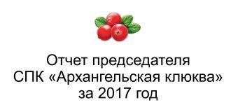 Итоговый отчет председателя кооператива за 2017 год